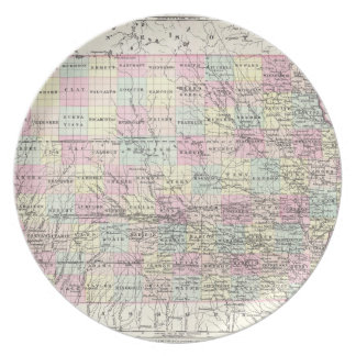 Vintage Map of Iowa (1855) Plate