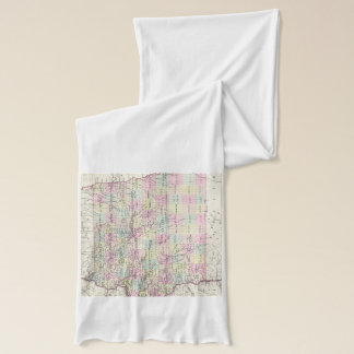 Vintage Map of Iowa (1855) Scarf