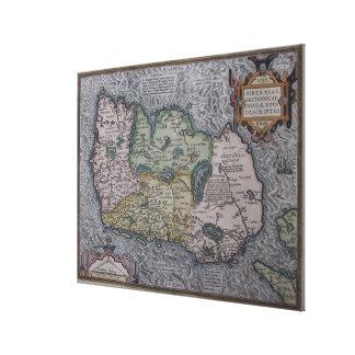 Vintage Map of Ireland (1592) Canvas Print