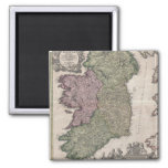 Vintage Map of Ireland (1716) 2 Inch Square Magnet