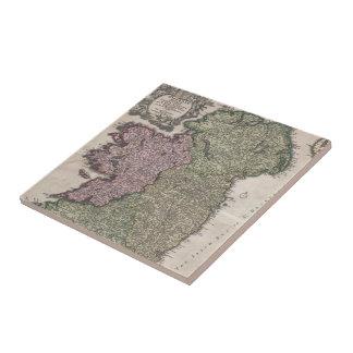 Vintage Map of Ireland (1716) Ceramic Tile