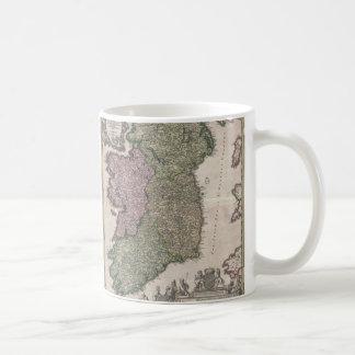Vintage Map of Ireland (1716) Coffee Mug
