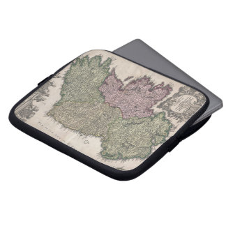 Vintage Map of Ireland (1716) Computer Sleeve