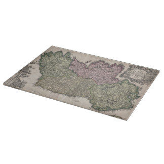 Vintage Map of Ireland (1716) Cutting Boards