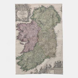 Vintage Map of Ireland (1716) Kitchen Towel