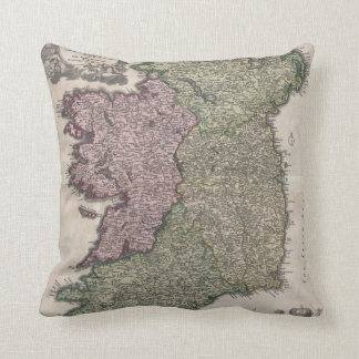 Vintage Map of Ireland (1716) Pillow