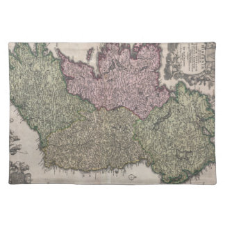 Vintage Map of Ireland (1716) Placemat