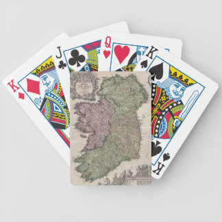 Vintage Map of Ireland (1716) Bicycle Playing Cards