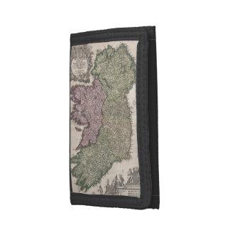 Vintage Map of Ireland (1716) Tri-fold Wallets