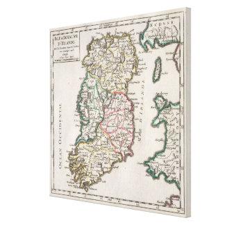 Vintage Map of Ireland (1748) Canvas Print