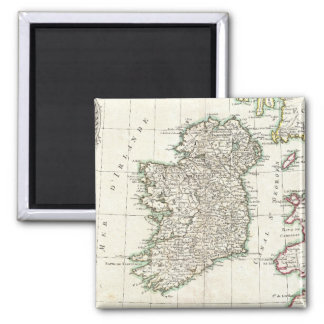 Vintage Map of Ireland (1771) 2 Inch Square Magnet