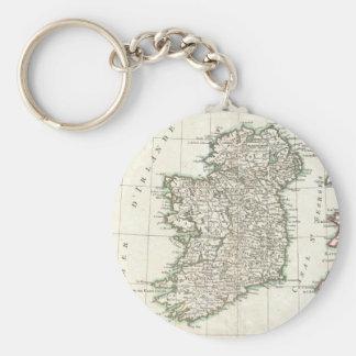 Vintage Map of Ireland (1771) Basic Round Button Keychain