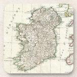Vintage Map of Ireland (1771) Beverage Coasters