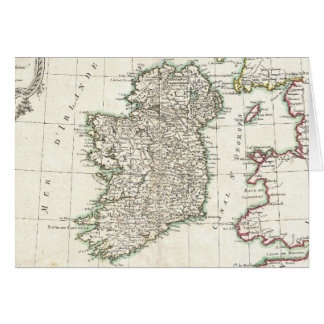 Vintage Map of Ireland (1771) Card