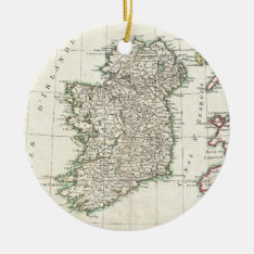 Vintage Map Of Ireland (1771) Ceramic Ornament at Zazzle