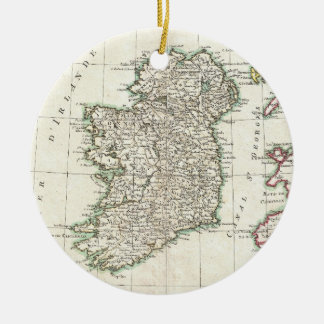 Vintage Map of Ireland (1771) Ceramic Ornament
