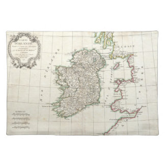 Vintage Map of Ireland (1771) Cloth Placemat