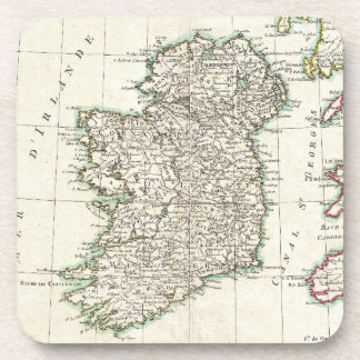 Vintage Map of Ireland (1771) Coaster