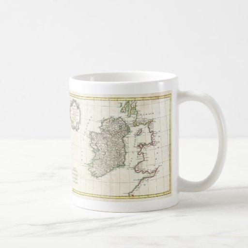 Vintage Map of Ireland (1771) Coffee Mugs