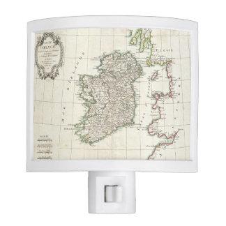 Vintage Map of Ireland (1771) Night Lites