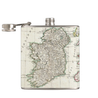 Vintage Map of Ireland (1771) Flask