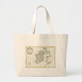 Vintage Map of Ireland (1771) Large Tote Bag