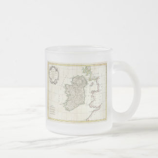 Vintage Map of Ireland (1771) 10 Oz Frosted Glass Coffee Mug