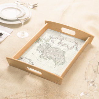Vintage Map of Ireland (1771) Serving Tray
