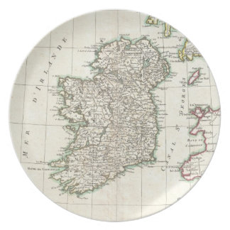 Vintage Map of Ireland (1771) Plate