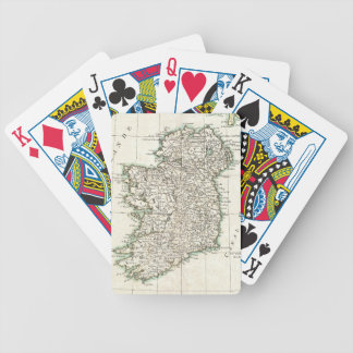 Vintage Map of Ireland (1771) Bicycle Playing Cards