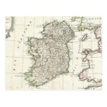 Vintage Map of Ireland (1771) Post Cards