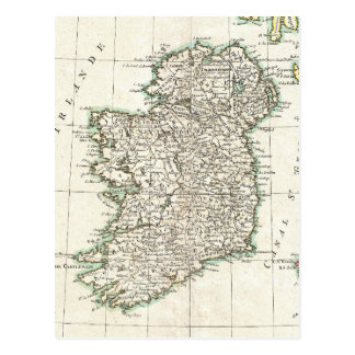 Vintage Map of Ireland (1771) Post Card