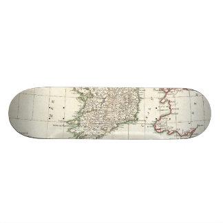 Vintage Map of Ireland (1771) Skateboard