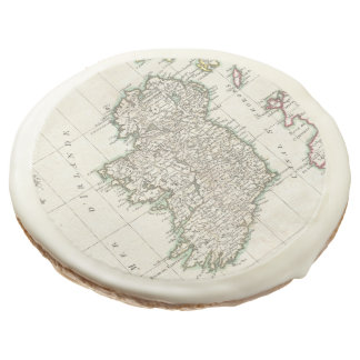 Vintage Map of Ireland (1771) Sugar Cookie