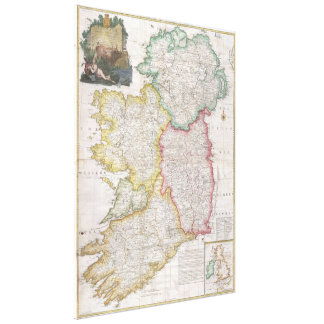 Vintage Map of Ireland (1794) Canvas Print