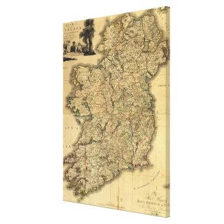 Vintage Map of Ireland (1797) Canvas Print