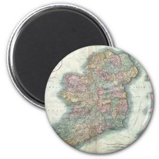 Vintage Map of Ireland (1799) 2 Inch Round Magnet