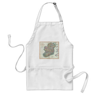 Vintage Map of Ireland (1799) Adult Apron