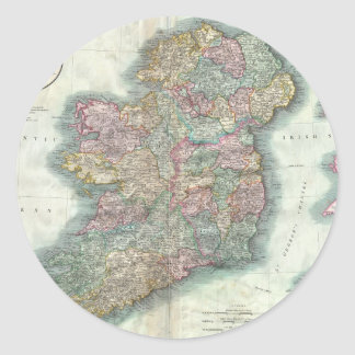 Vintage Map of Ireland (1799) Classic Round Sticker