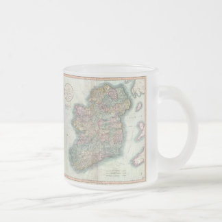 Vintage Map of Ireland (1799) Frosted Glass Coffee Mug