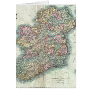Vintage Map of Ireland (1799) Greeting Card