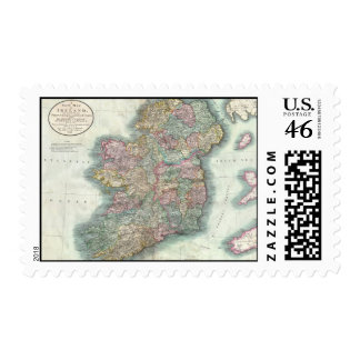 Vintage Map of Ireland 1799 Stamps