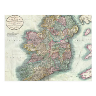 Vintage Map of Ireland (1799) Post Cards