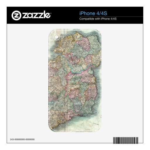 Vintage Map of Ireland (1799) Skin For The iPhone 4S