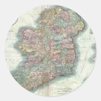 Vintage Map of Ireland (1799) Sticker