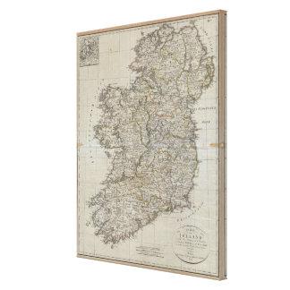 Vintage Map of Ireland (1804) Canvas Print