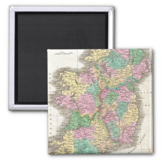 Vintage Map of Ireland (1827) 2 Inch Square Magnet