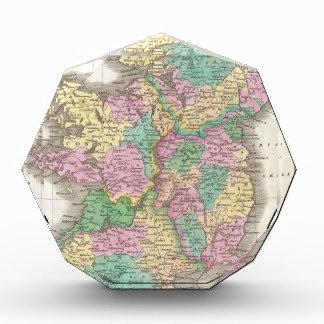 Vintage Map of Ireland 1827 Acrylic Award