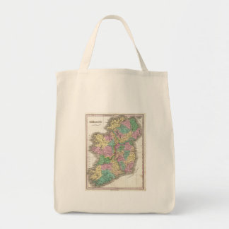 Vintage Map of Ireland (1827) Canvas Bags