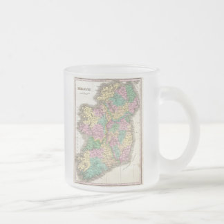 Vintage Map of Ireland (1827) Frosted Glass Coffee Mug